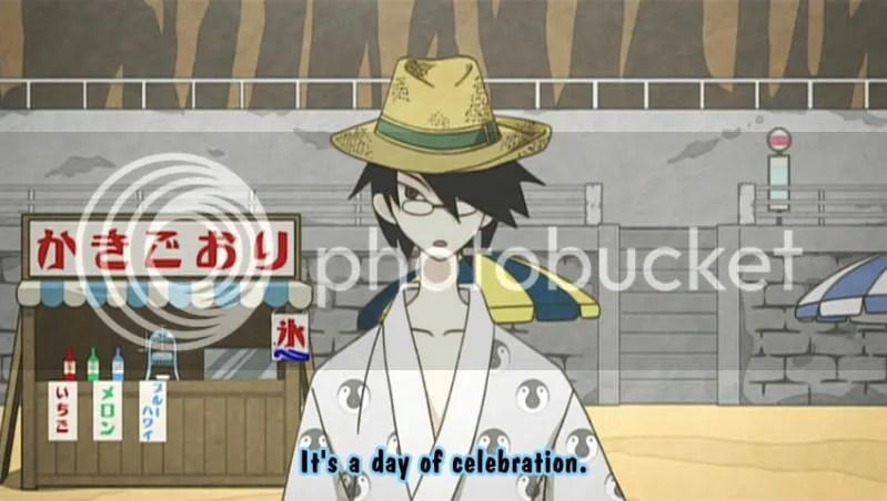 Nozomu looks quite cute in that hat.