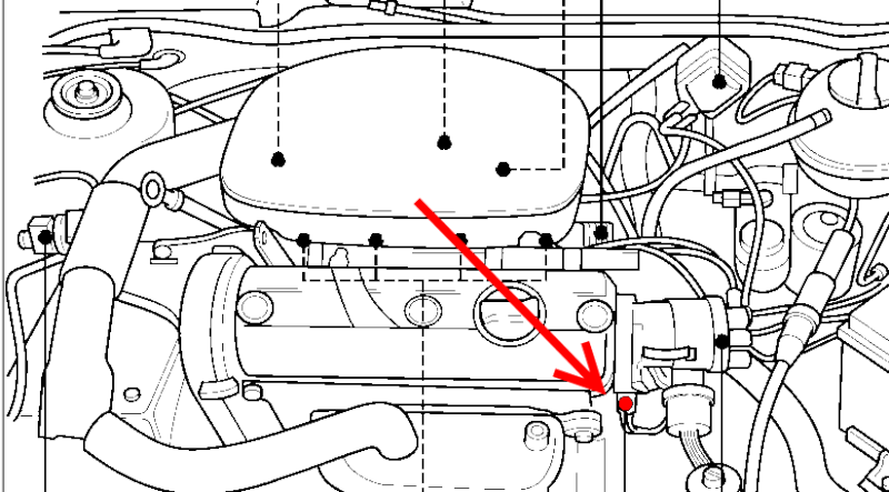 [ VW POLO 9N 1.4 an 2002 ] Emplacement Sonde Liquide