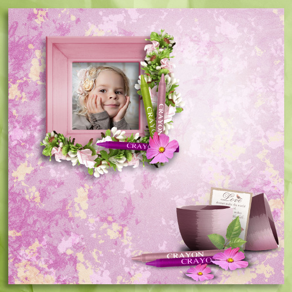 can you paint me some flowers kit by simplette scrap and design page koccy