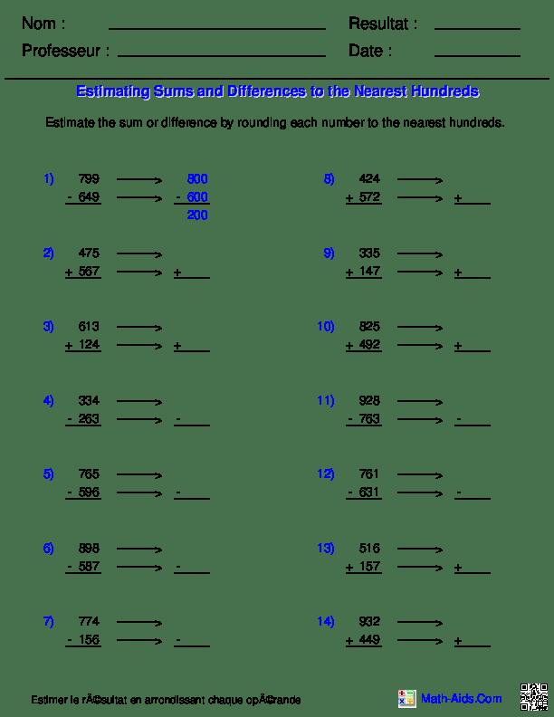 Générateurs de fiches de travail en mathématiques