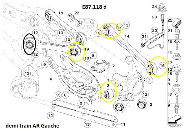 [ BMW E87 118D an 2006 ] Bruit Train arrière et