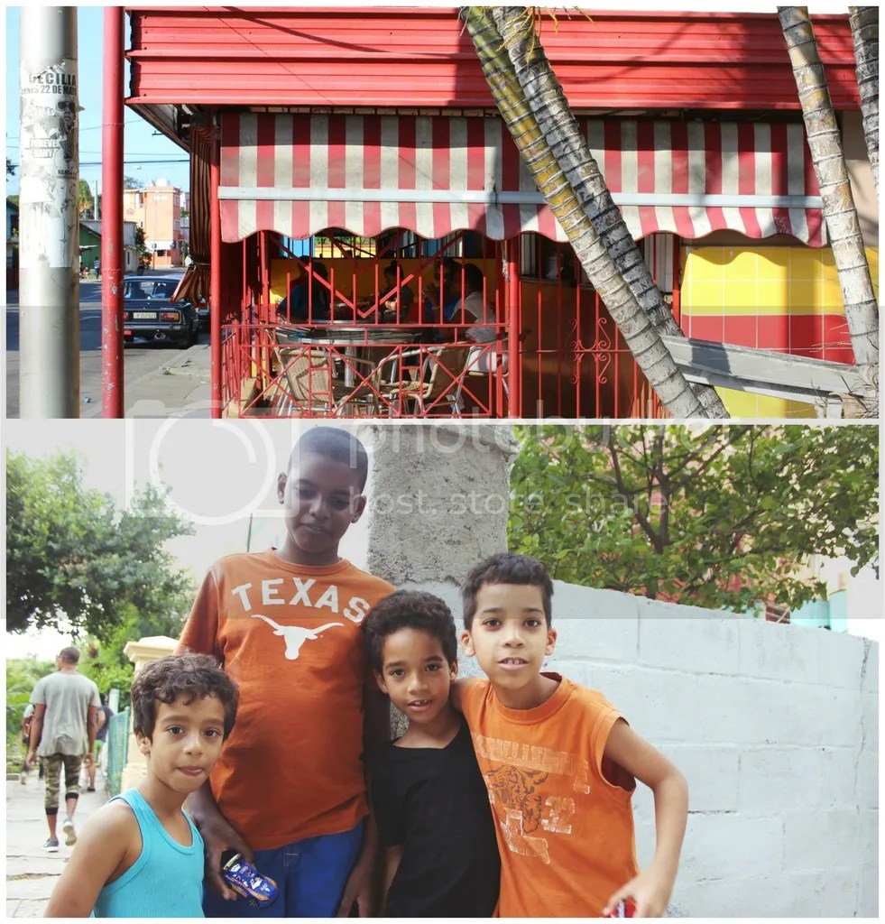 store front, kids, children, cuban children, locals