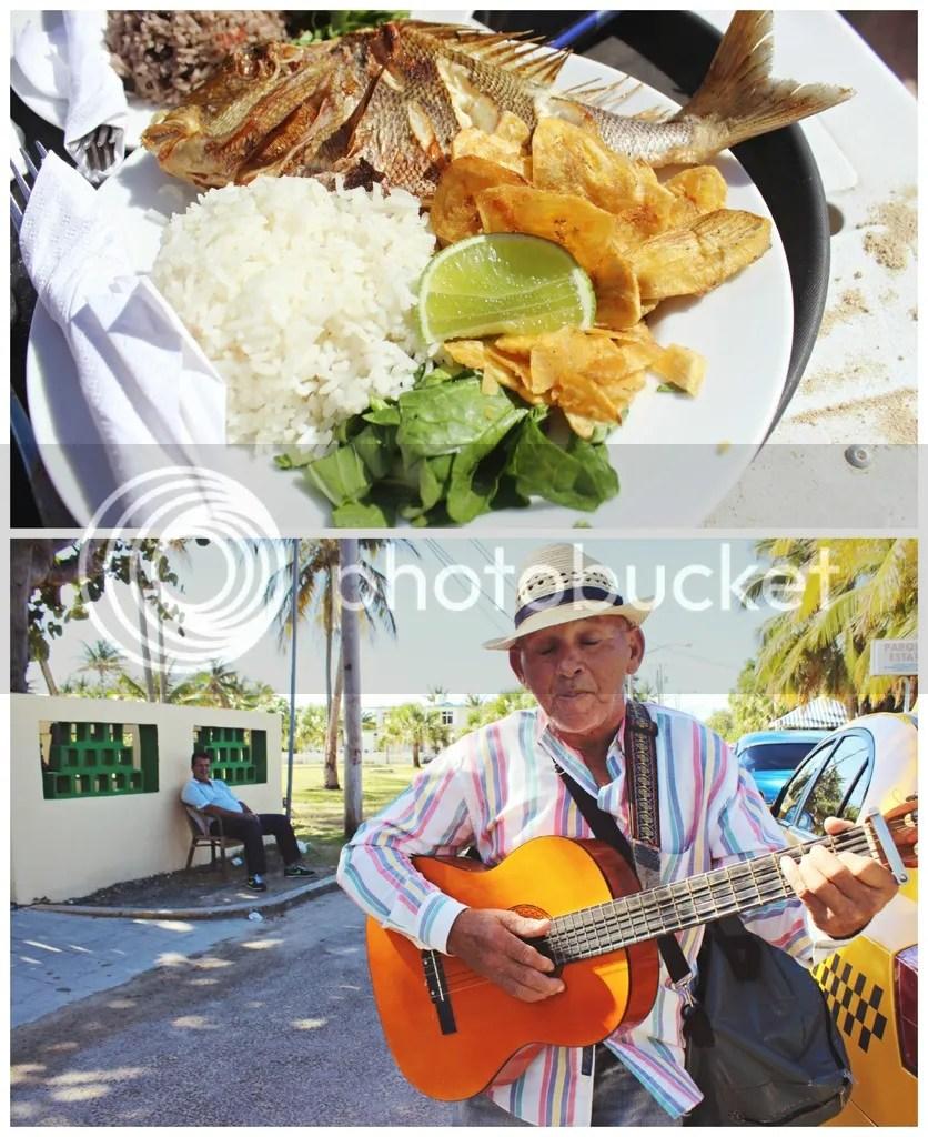fish, beach, cuba, guitar, singer