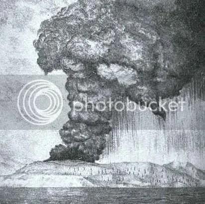 Lukisan Gunung Krakatau
