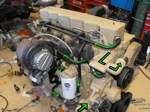 small resolution of first the basics coolant enters the radiator from the top exits the bottom coolant enters the water pump flows up into the block then up through the