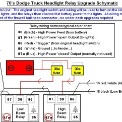 1997 Dodge Dakota Tail Light Wiring Diagram Heil Condenser Headlight Relay Mod Question...low And High/low Together... - Ram, Ramcharger, Cummins ...