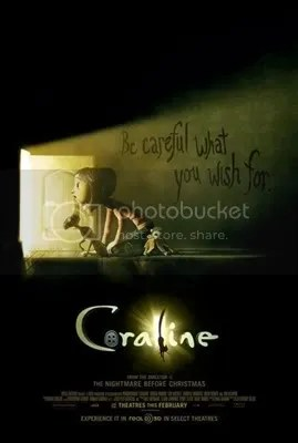 Coraline Movie based on a novel by Neil Gaiman