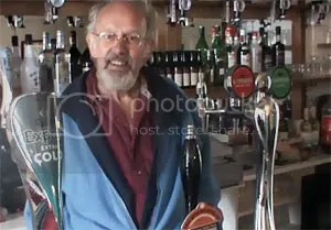 Behind the bar at Pengwern Arms