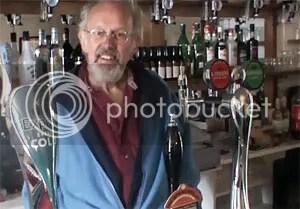Behind the bar at Pengwern Arms