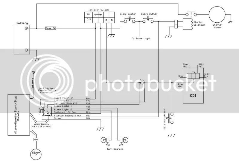 RemoteWiring wiring diagram for chinese 110 atv,110cc Quad Wiring Diagram