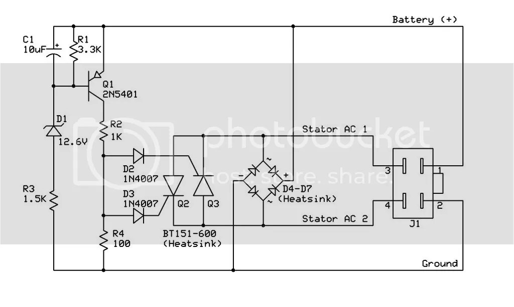 Stator Wiring Diagram 4 Wire Regulator, Stator, Free