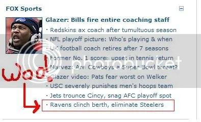 Eliminate Steelers