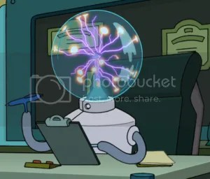 Dr Perceptron from Futurama (picture from theinfosphere.org)