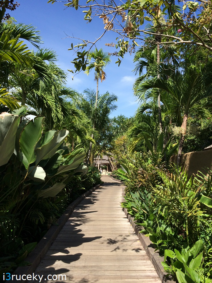 As you enter the resort, you get a feeling you're close to nature