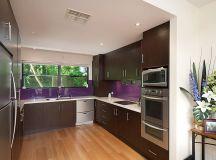Modern u-shaped kitchen design using floorboards - Kitchen ...