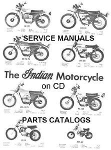 1970's INDIAN Enduro & Dirtbike Service Manuals & Parts