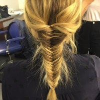 Fearne Cotton works the best fishtail hair braid we've ...