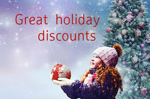 Great holiday discounts