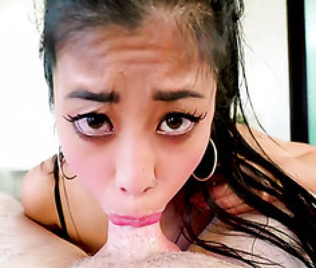 Jade Kush Deepthroats And Titfucks Big Dick With Her Chinese Boobs