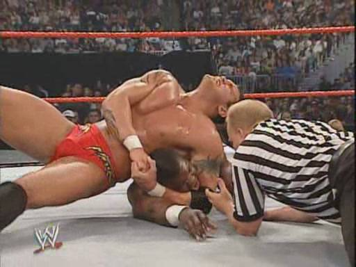 Image result for WWE Bad Blood 2004 Randy Orton vs Shelton Benjamin