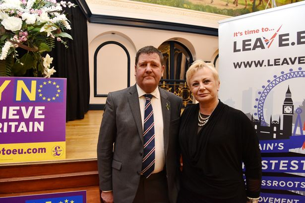 Hull-based UKIP MEP Mike Hookem with party colleague and fellow Yorkshire MEP Jane Collins