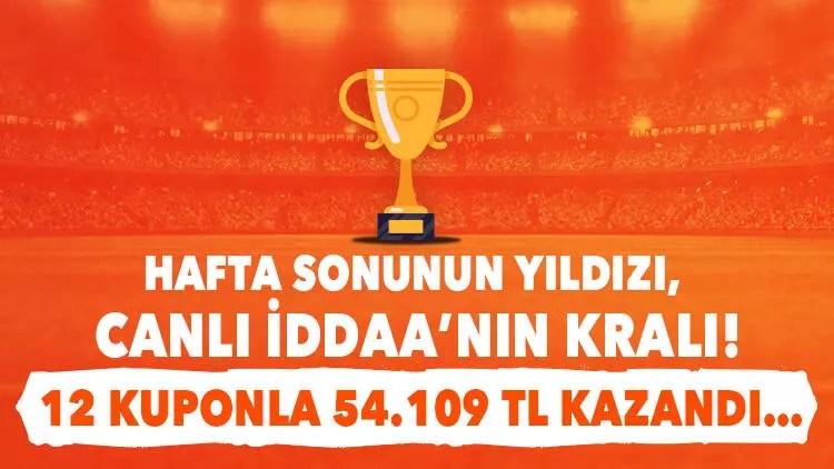 Hafta sonunun kralı! 12 canlı iddaa kuponuyla 54 bin 109 TL kazandı... 1