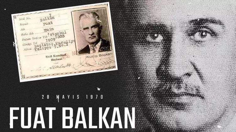 Beşiktaş kurucularından Fuat Balkan'ı andı 1