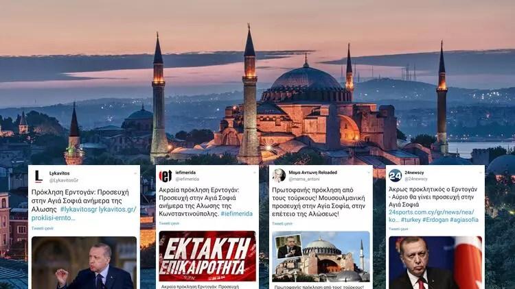 Son dakika haberi... Ayasofya'da Fetih Müddeti okunacağını duyan Yunanlılar çıldırdı 1