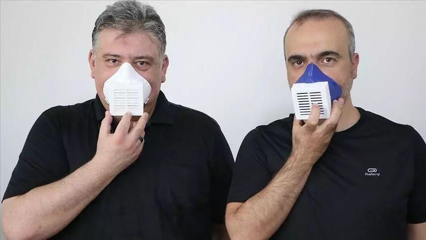 Öğretim üyelerinden virüs ve mikropları öldüren maske 1