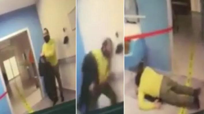 Önce polise saldırdı sonra hastaneyi karıştırdı
