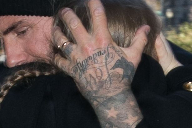David Beckham Shows Off Mystery Tattoo On His Wedding Ring