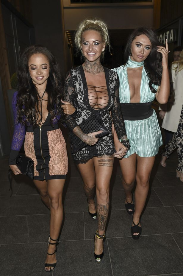 Olivia-Walsh-Jemma-Lucy-Charlotte-Dawson Olivia Walsh, Jemma Lucy and Charlotte Dawson all flash boobs at a night out