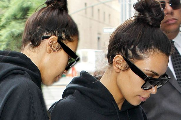 Is Kim Kardashian Losing Her Hair Reality Star Seen With