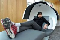 Manchester University installs futuristic sleeping pods at ...