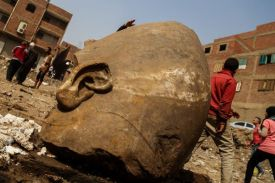 Image result for Ancient Colossus uncovered in Cairo