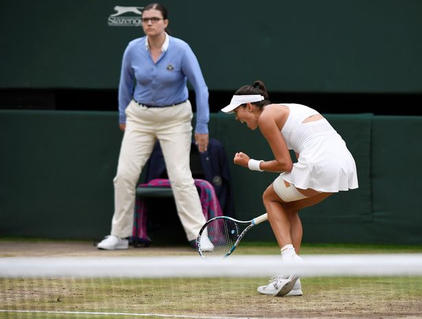 Muguruza during the match on Centre Court (Image: REUTERS)