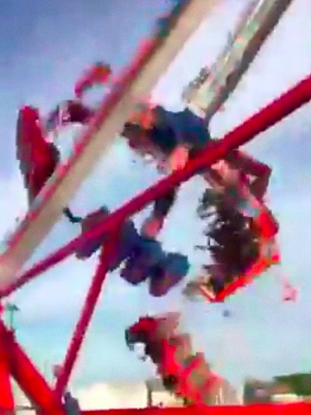 Horrifying footage shows the moment the riders were thrown into the air (Image: Destiny Kalynn)