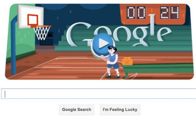 London 2012 Basketball Interactive Google Doodle For
