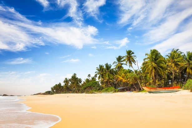 White sand: One of Sri Lanka's many beautiful beaches