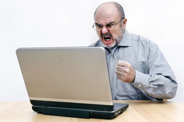 Image result for angry computer guy