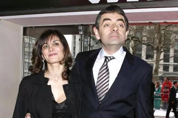 Rowan Atkinson and his wife Sunetra
