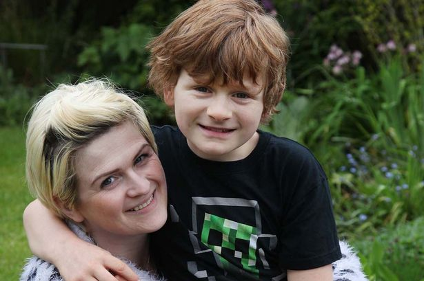 Helen Leask with her son Daniel