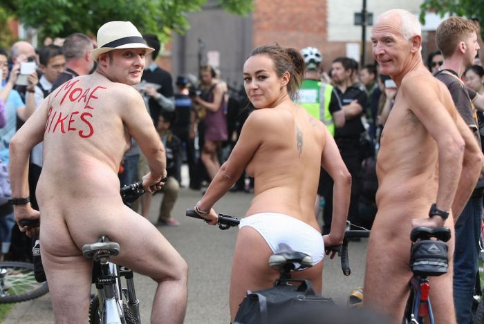Ninth annual naked bike ride in Manchester