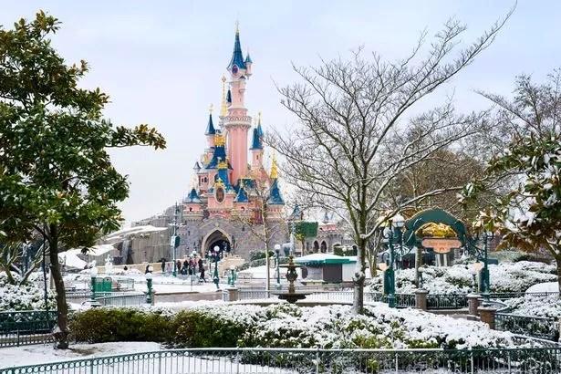Image result for disneyland Paris at christmas