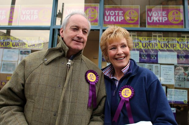 UKIP supporters Neil and Christine Hamilton