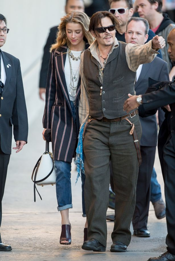 Johnny Depp And Amber Heard Look Casual And Cool As They