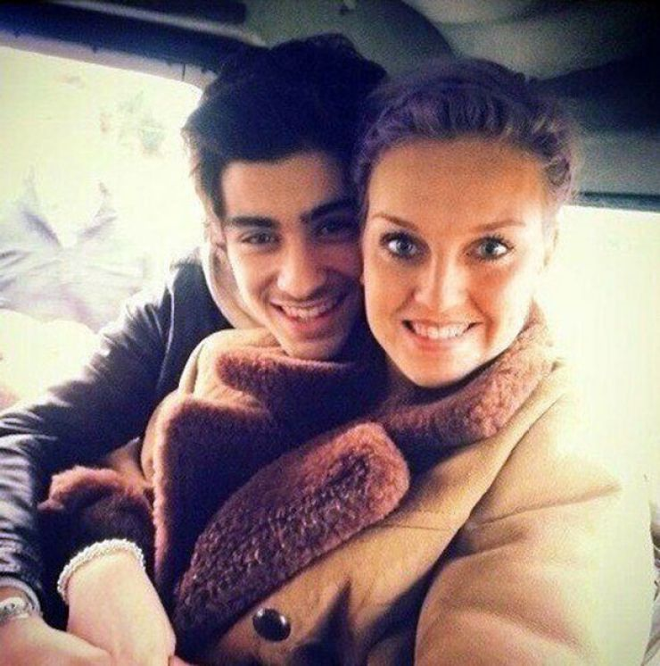 Zayn Malik and Perrie Edwards cuddling
