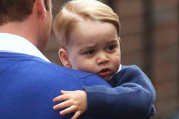 Britain's Prince William returns with his son George to the Lindo Wing of St Mary's Hospital