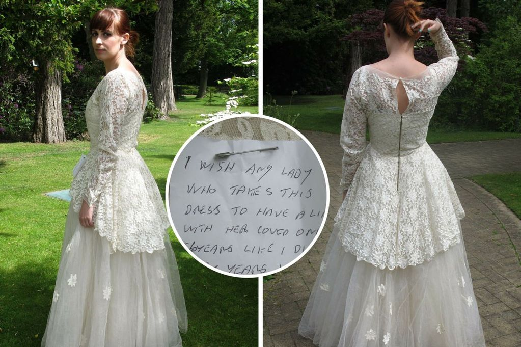 Mystery Man Gives Away Wife's 56-year-old Wedding Dress