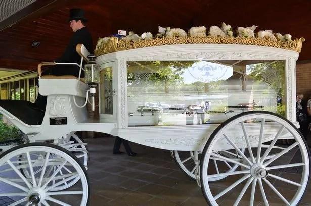 Funeral of Kieron Myers, 21, at St Bede's Chapel, Teesside Crematorium